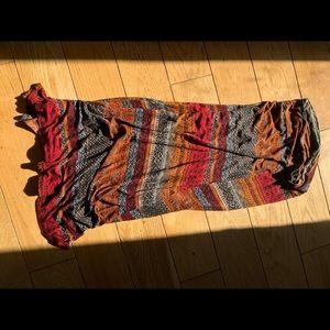 Mosaic long fold over skirt, size medium